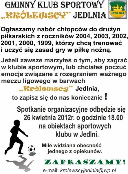 Nabór do drużyny piłkarskiej.