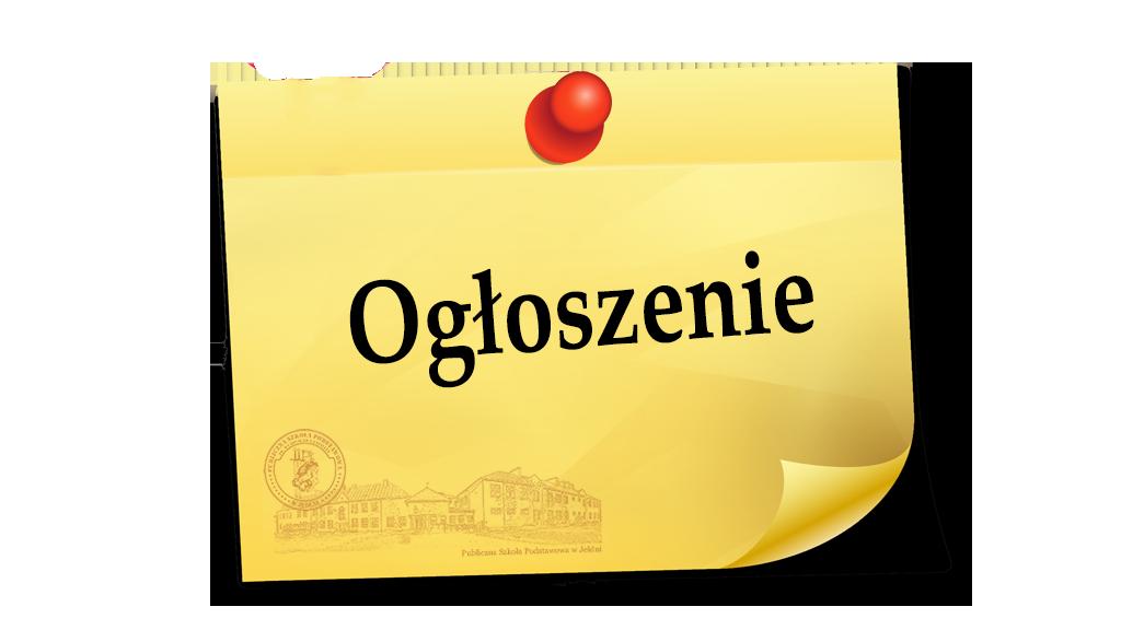 Harmonogram konsultacji klas IV-VII w PSP Jedlnia