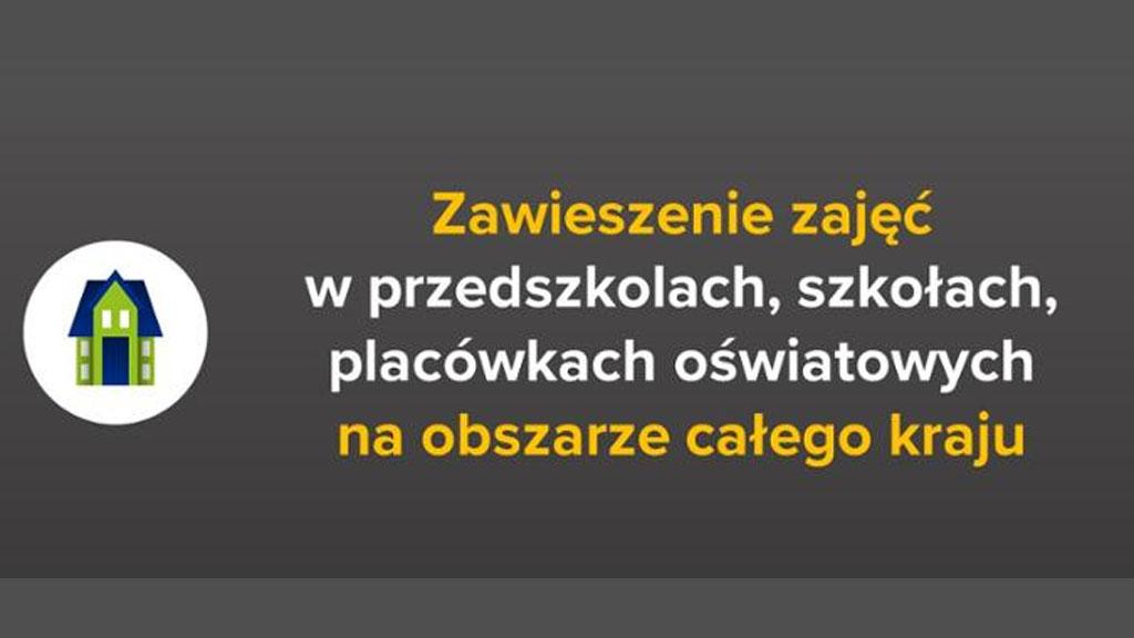 Zawieszenie zajęć dydaktyczno-wychowawczych w PSPJedlnia.