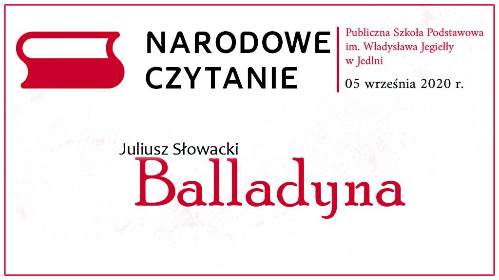 Narodowe czytanie 2020 w PSP w Jedlni